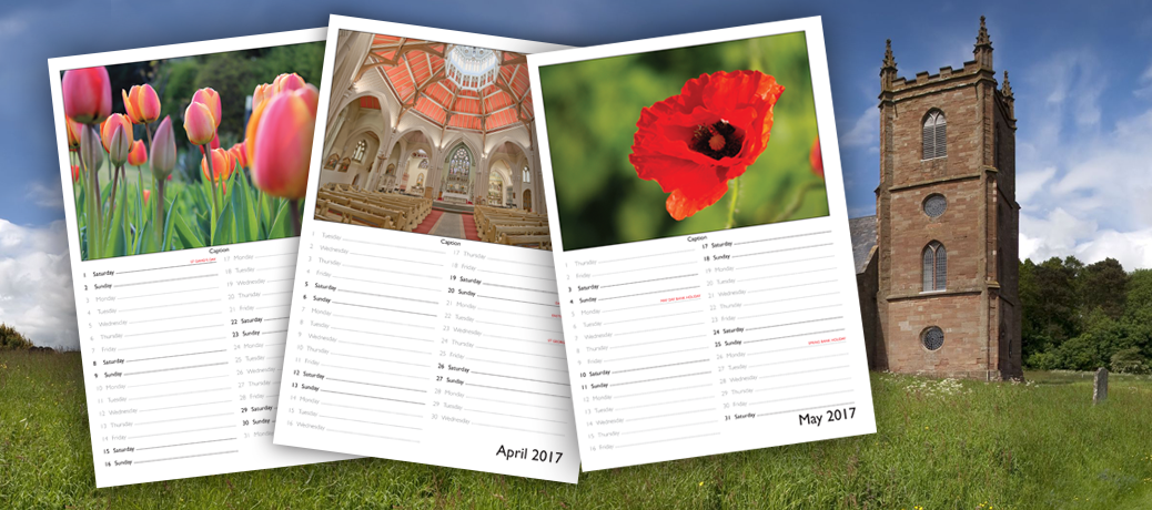 Church Fundraising Calendar Printing
